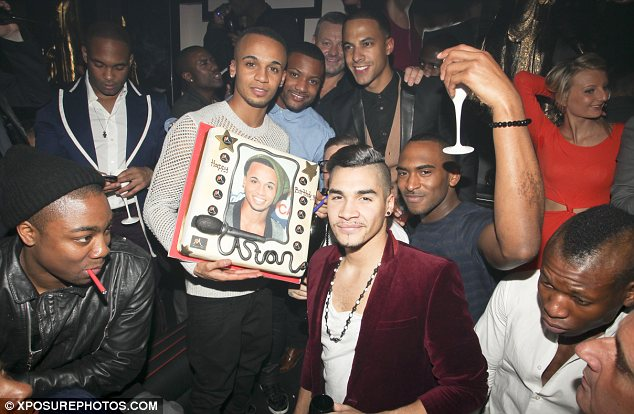 Happy Birthweek! Aston Merrygold enjoys another night out to celebrate his 25th