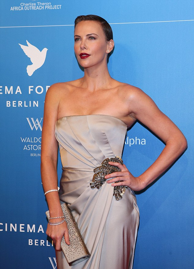 To brown and back again: The famous actress sported a brunette buzz cut last week at the Berlin International Film Festival