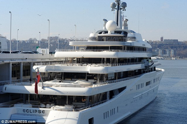 Expensive: The yacht's initial estimated cost was around $500million, but by the time Mr Abramovich took delivery last year it was spiraling towards the $1.5billion