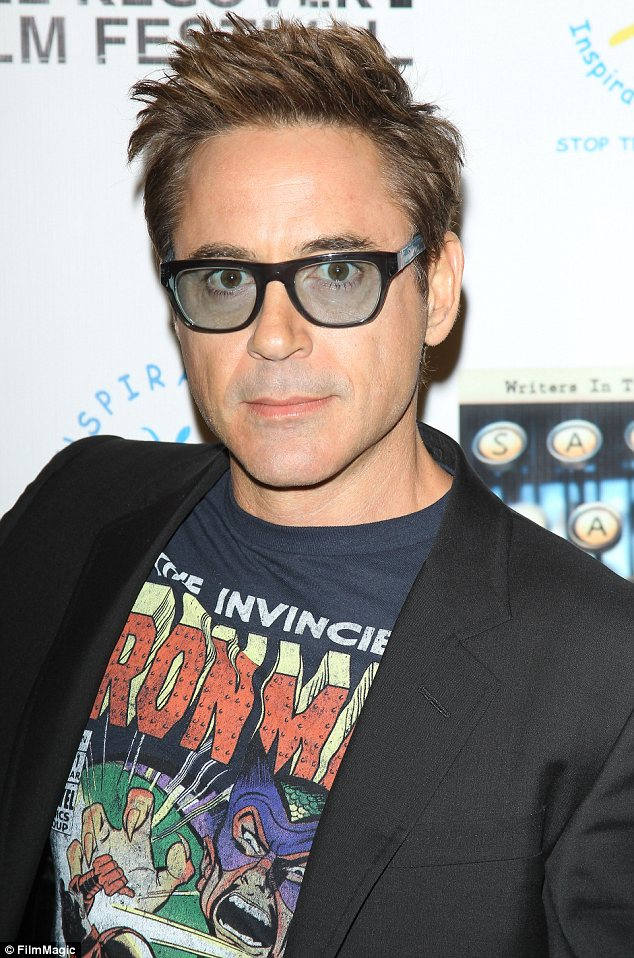 Robert Downey Jr Wears Marvel Alter Ego On His Chest To