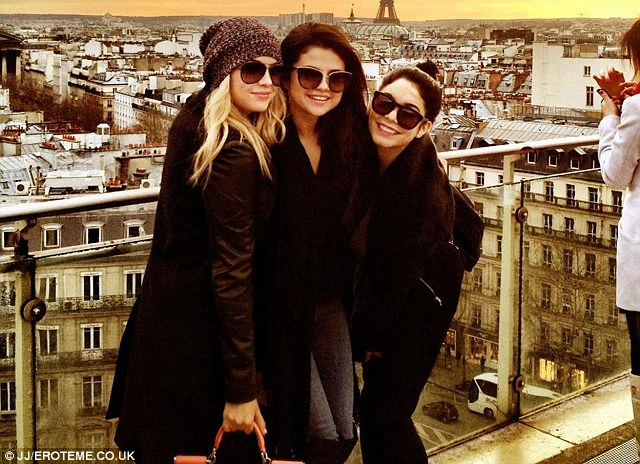 One for the album: The trio became friends while filming Spring Breakers in the city