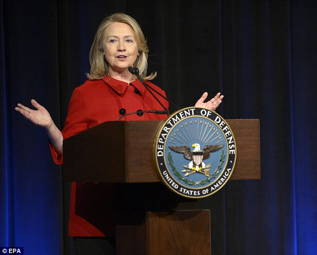 Next gig: Former Secretary of State Hillary Clinton has signed up with a talent agency and is commanding $200,000 per lecture, each of which will only last between one and two hours