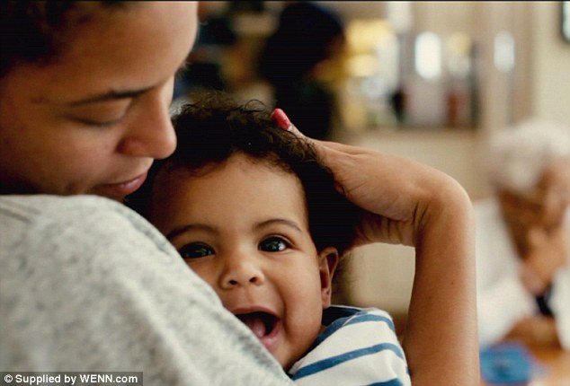 Family love: The music superstar was doting on her little girl throughout the documentary, which she co-directed