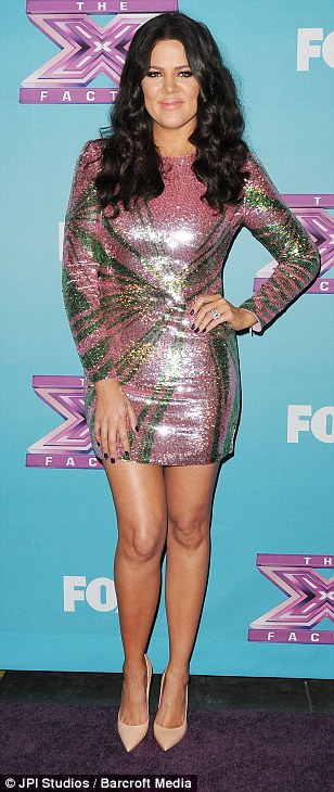 Her first big role: But Khloe, seen with her co-stars on the X Factor, will not be back for more