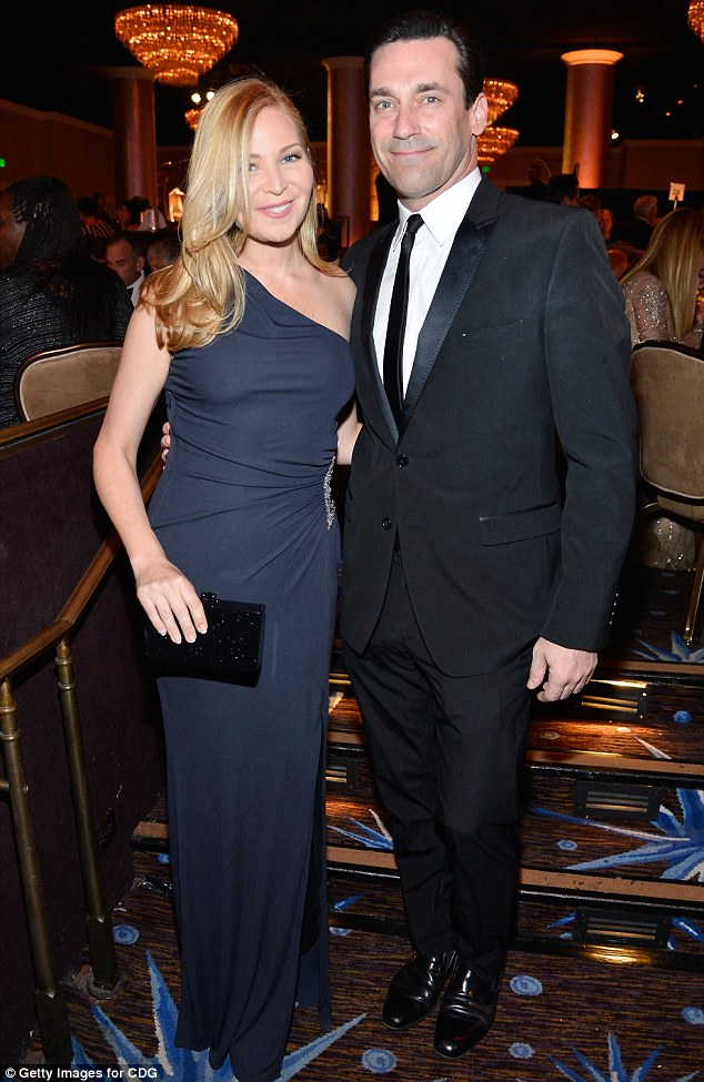 Mad style: Mad Men star Jon Hamm and his longterm girlfriend Jennifer Westfeldt struck a stylish pair