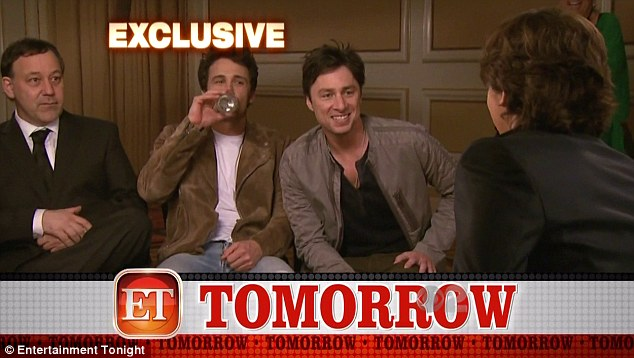 Is he ready? The teenager sat with Sam Raimi, James Franco and Zach Braff