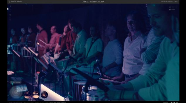 The site also allows the viewer to see the choir and orchestra, and pan around complete with 360 sound to hear exactly what they would