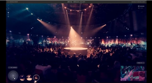 Viewers can also take a wider view to see the gig from an audience member's point of view