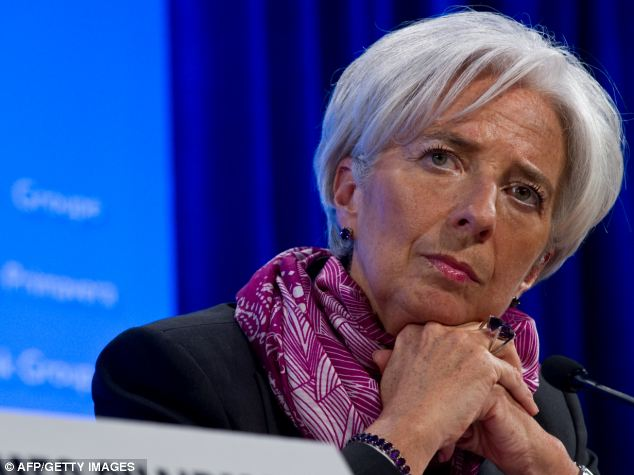 Former French finance minister Christine Lagarde, now head of the International Monetary Fund, said French workers were 'lethargic' and scared of becoming entrepreneurs