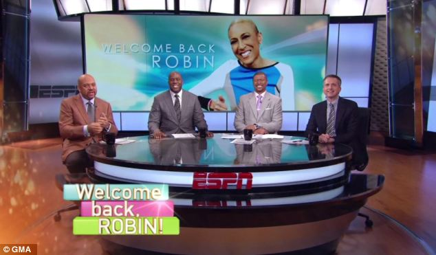 Popular: Hosts from ESPN also welcomed back Robin with a special announcement