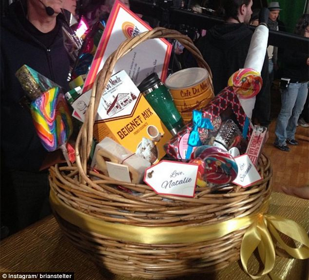 Considerate: Long-time rivals at the Today show sent a basket of goodies to Roberts to welcome her back