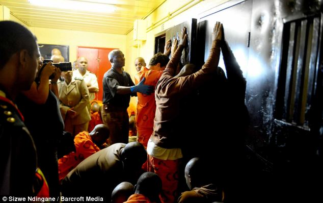 Raid: A prison cell inside the Pretoria Central Prison during a surprise raid by prison officials checking for drugs and other contraband