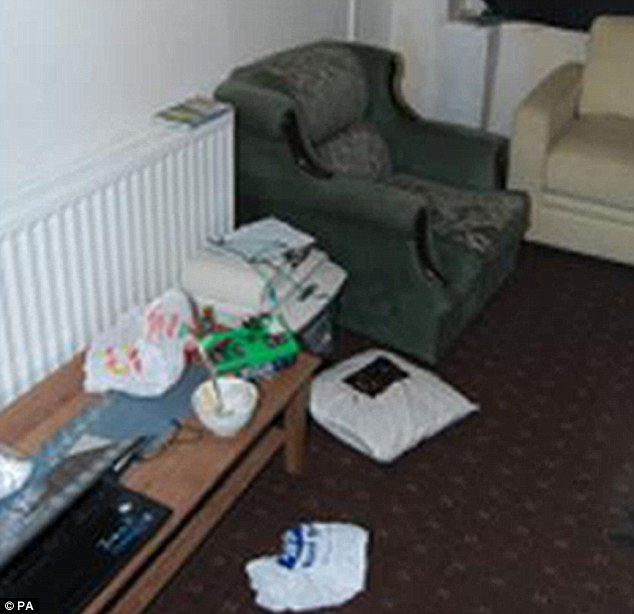 Probe: Police raided properties all over Birmingham, including this safe house, which was full of bomb-making equipment and documents detailing how to make them