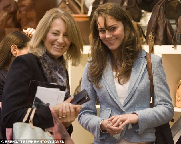 Kate with mother Carole Middleton, whose company is estimated to be worth more than £30 million and, albeit inadvertently, is profiting from the labours of poor, overseas workers
