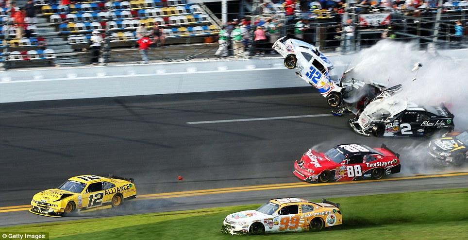 Dale Earnhardt Jr Wallpaper For Iphone Daytona International Speedway Chaos As Kyle Larson S Car