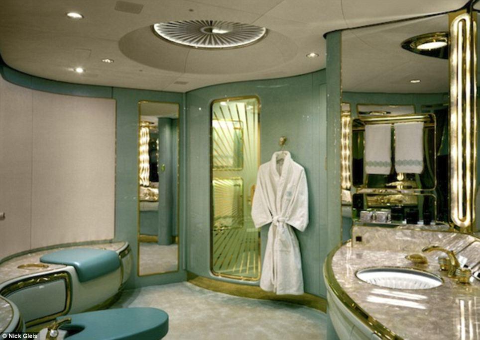 Freshen up? Even large bathrooms are elegantly designed to make a big impression