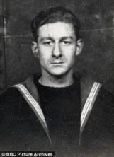 Actor Jon Pertwee in the Navy