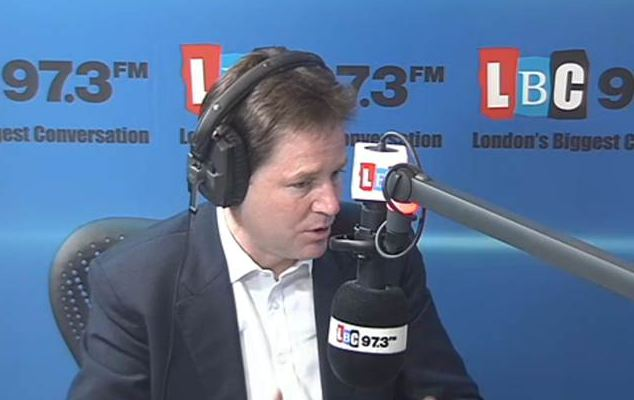 Hosting his weekly radio phone-in, Nick Clegg was challenged to explain when he first knew of claims about Lord Rennard's 'inappropriate behaviour'