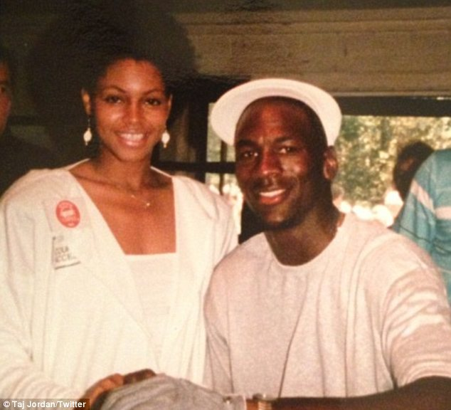 Technicality: Pamela Smith, left, withdrew her paternity suit against Michael Jordan, right, while maintaining the truth of her claims