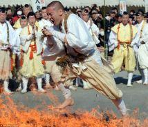 Monks Walking Barefoot