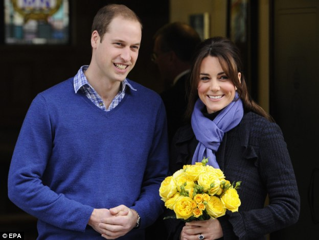 Pranked: While the Duchess of Cambridge, pictured with Prince William leaving the hospital, was treated for acute morning sickness, King Edward VII hospital was subjected to a hoax-phone call