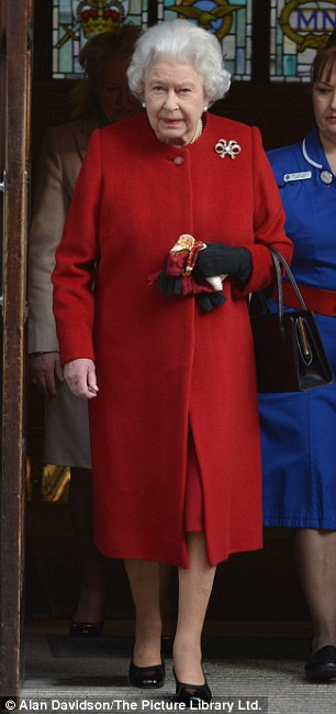 Getting better: The Queen walked unaided out of the Marylebone hospital without any help after being taken their for treatment last night