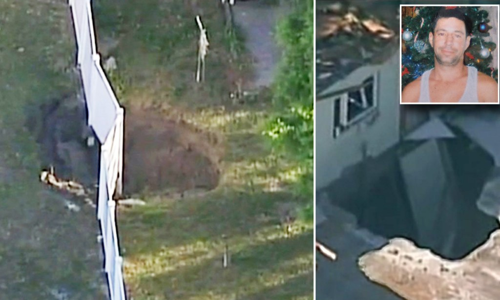 ANOTHER sinkhole opens in Florida town where man was
