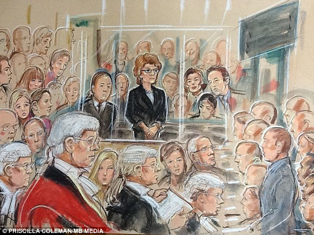 Guilty: Vicky Pryce in the dock at Southwark Crown Court as she was told she had perverted the course of justice
