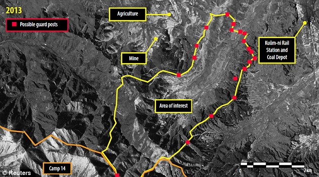 North Korea has built a huge 'security perimeter' around a camp for political prisoners, restricting movement in nearby villages
