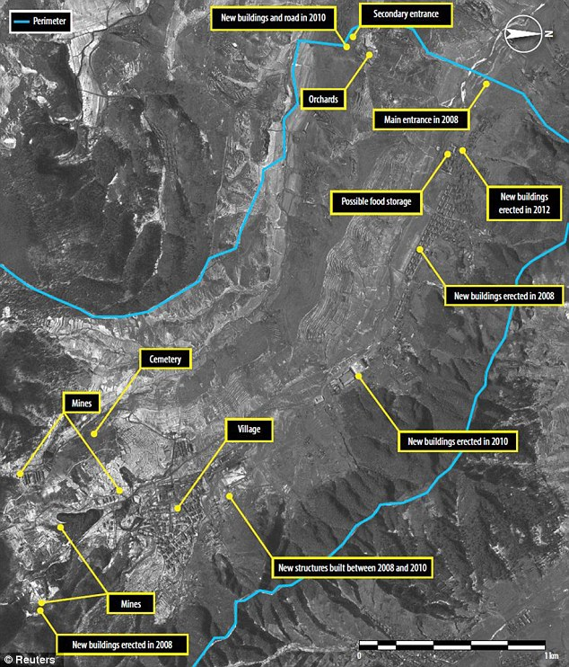 Satellite images show how North Korea is expanding its already sizeable network of prison camps