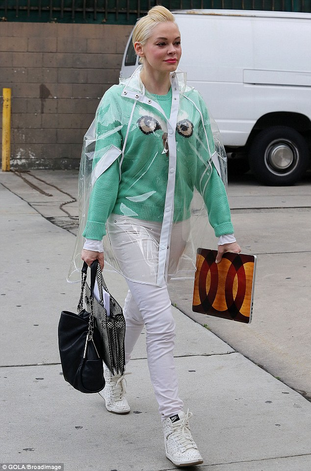 Rose McGowan Steps Out In Los Angeles Wearing A Futuristic