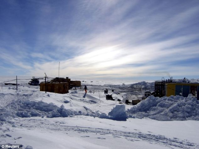 A general view of the Vostock research camp in Antarctica, where researchers have spent years drilling into the ice