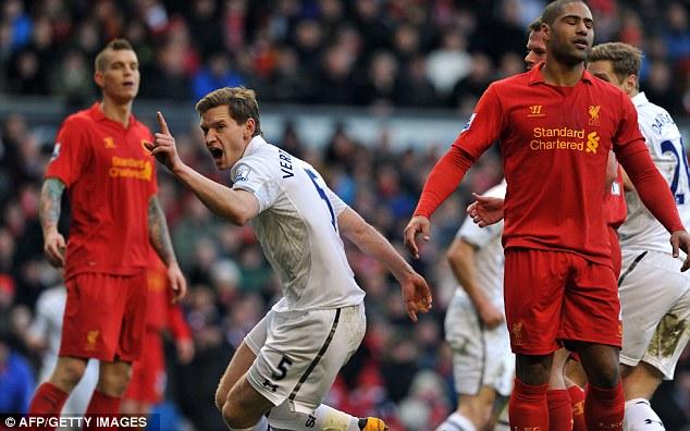Deserved: Tottenham had been in the ascendancy prior to Vertonghen's equaliser