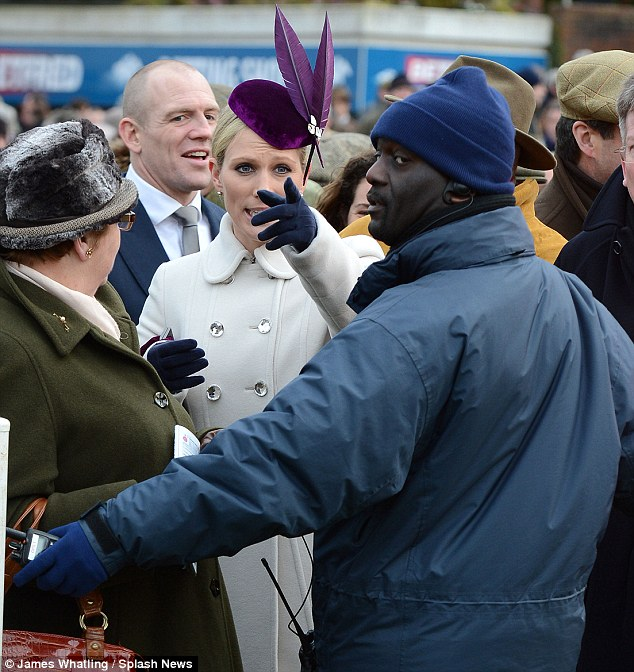 But I'm the Queen's granddaughter! Zara argues with the security guard while Mike Tindall enjoys a chuckle