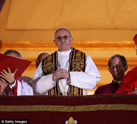 Newly elected Pope Francis I