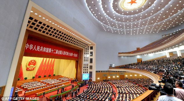 Spectacle: But the National People's Congress largely exists to rubber-stamp leaders' decisions