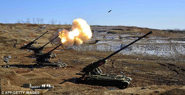 Reaction: The drills are partly a response to military exercises being held by the U.S. and South Korea