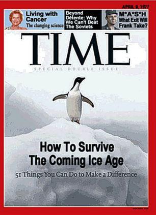 """Em 1977, foram avisados da """"próxima era glacial ', agora somos advertidos de que o planeta está ficando perigosamente quente"""