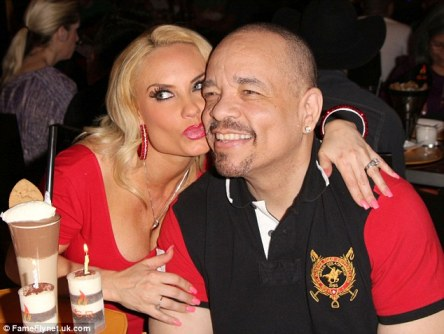 Lovely days: Ice-T threw wife Coco a birthday party to celebrate turning 34 on Sunday night in Las Vegas, Nevada