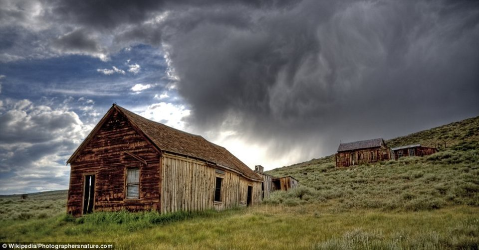 Bodie, California: This was a booming mining town, achieving notoriety in the 1870s due to its particularly profitable gold ore trade