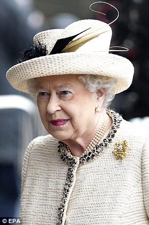 Queen Elizabeth II arrives at Baker Street station in central London