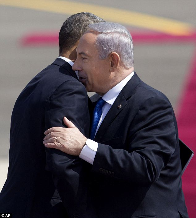 Welcoming: Much of the trip will be focused on how President Obama and Prime Minister Netanyahu interact as their relationship is known to be frosty