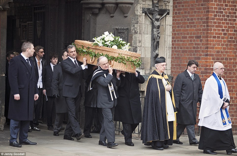 Event: Hundreds of mourners attended the service which took place at St Bartholomew the Great, in London