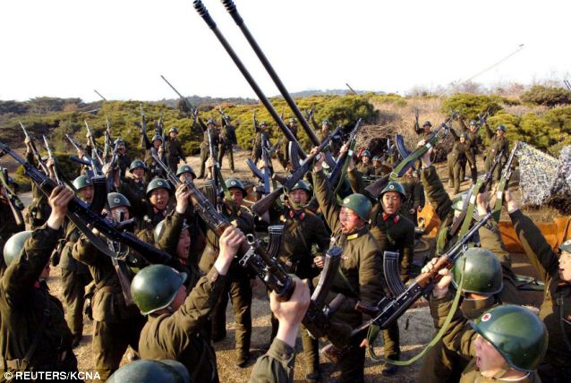 Force: The north's sabre rattling will also lead to increasing anxiety in South Korea
