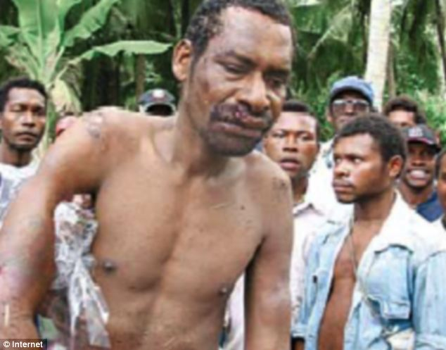 'Black Jesus': Notorious cult leader Stephen Tari after he was captured in Papua New Guinea in 2007