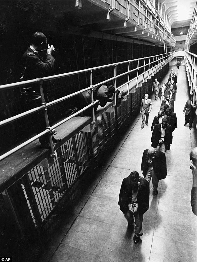 New discovered photos show the last prisoners depart from Alcatraz Island federal prison in San Francisco. The National Park Service on Thursday celebrated the 50th anniversary of Alcatraz Island's closure with an exhibit of the photos