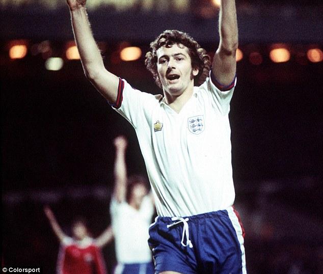 Trevor Francis celebrates his goal. Picture from Daily Mail.