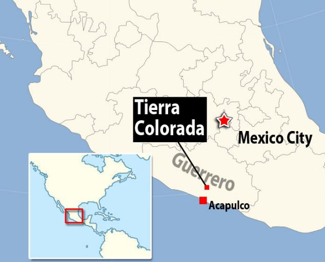 Major route: Tierra Colorada is in the southern state of Guerrero on the way from Mexico City to Acapulco