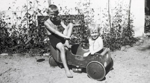 Ingvar Kamprad as a young boy (left). He would go on to become one of the world's most successful entrepreneurs