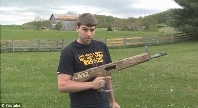 Raid: Nearly 40 government agents on Tuesday raided the home of popular YouTube gun enthusiast Kyle Myers, 26, well known for shooting and blowing up inanimate objects on video